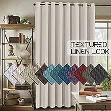 Room Darkening Linen Curtain for Sliding Door (100