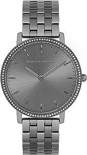 Rebecca Minkoff Women's Major Quartz Watch with Stainless Steel Strap, Gray, 16 (Model: 2200350)