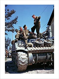 Crew of a Sherman Tank Laminated Art Print, 18 x 24 inches