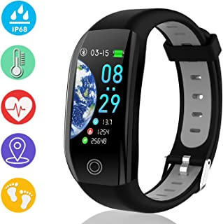 """ZOFUNNY 1.14"""" Fitness Tracker Smart Watch with Heart Rate Blood Pressure Sleep Monitor GPS Calorie Pedometer Sport Activity Tracker for Men Women IP68 Waterproof Fitness Watch Holiday Birthday Gifts"""
