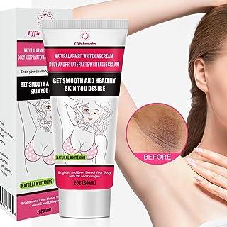 Underarm Whitening Cream, Natural Skin Bleaching Cream with Vitamin C Effective for Lightening & Brightening Armpit, Knees, Elbows Neck, Dark Spots, Whitens, Nourishes, Repairs Skin 60g (60g)
