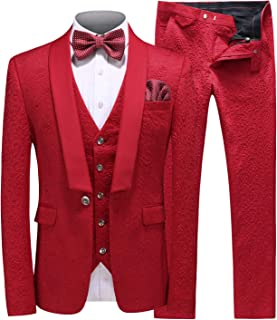 Mens New Casual Slim Fit Skinny Dress Suits 3 Piece