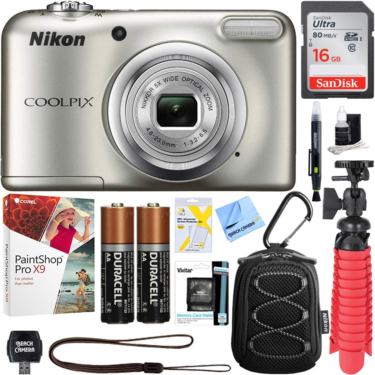 Comes with. A free High Speed USB Adapter is included 16GB Class 10 SDHC Team High Speed Memory Card 20MB//Sec Fastest Card in the Market FOR NIKON COOLPIX L22 1000p 1000pj