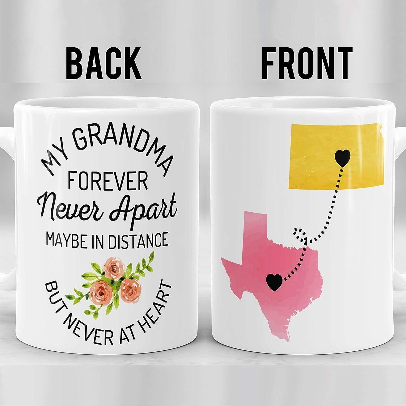 Grandma Long Distance Mug, State to State Mug for Grandma, Connecting States Mug, Nana Mug, Mimi Mug, Moving States Mug, Mothers Day Mug
