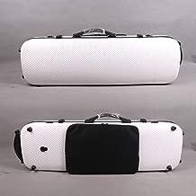 4/4 New violin Case Carbon fiber Fiberglass Oblong case Strong Light Full size music Sheet Bag (white1)