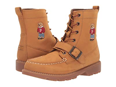 Polo Ralph Lauren Kids Ranger Hi II (Big Kid) (Cashew Nubuck/Hoodie Bear) Kid
