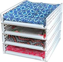 Uncluttered Designs Sliding Stackable Shelves - Create Instant Shelving - Breathable for Clothing - Customizable for Your ...