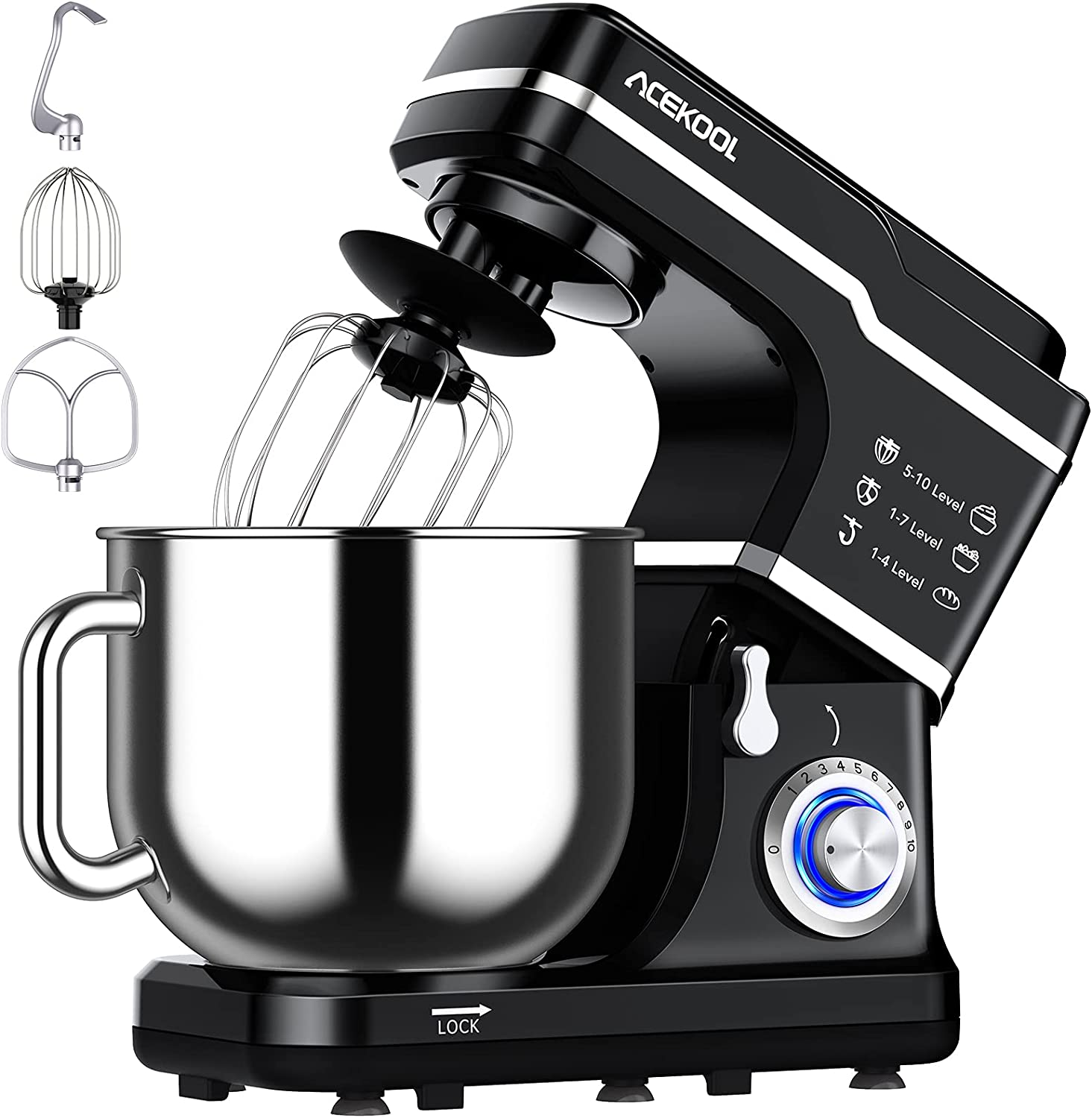 Stand 2021 autumn and winter new Mixer 7.5QT Kitchen Electric Food 10-Speed Tilt-Hea Selling