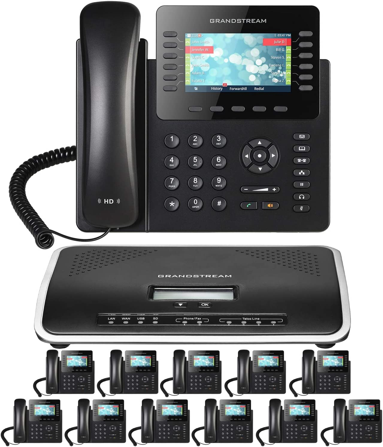 Elegant Business Phone System: 2170 Pack with Voicemail Auto Attendant Now free shipping