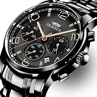 OLMECA Men's Watch Luxury Sports Military Wristwatches Chronograph Calendar Date Quartz Waterproof Watches for Women Relojes