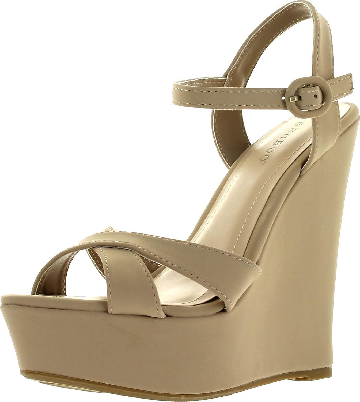 Bamboo Eliza-25 Womens Platform Wedge Heel Sandals