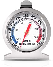 Oven Thermometer 50-300°C/100-600°F, Oven Grill Fry Chef Smoker Thermometer Instant Read Stainless Steel Thermometer Kitch...