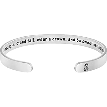 MEMGIFT Inspirational Bracelets for Women Cuff Bangle Encouragement Jewelry Gifts for Her Birthday