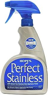Hope's Perfect Stainless Steel Cleaner and Polish, 22-Ounce, Streak-Free Self-Polishing Formula, Blocks Fingerprints