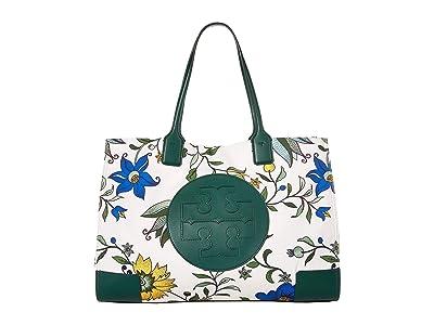 Tory Burch Ella Printed Tote (New Ivory Love Floral) Handbags