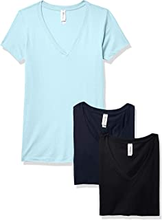 Marky G Apparel Women's Ideal Short Sleeve V-Neck T-Shirt Tees (Pack of 3)