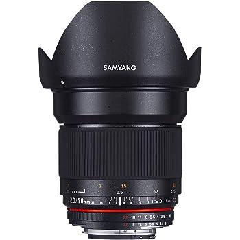 Samyang 16/2,0 Objektiv DSLR Canon EF manueller Fokus Fotoobjektiv, Weitwinkelobjektiv schwarz
