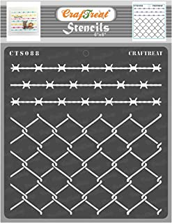 CrafTreat Stencil - Wire Fence | Reusable Painting Template for Journal, Notebook, Home Decor, Crafting, DIY Albums, Scrap...