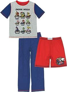 Komar Super Mario Kart Boys 3 Piece Shorts Pants Pajamas Set