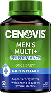 Cenovis Men's Multi + Performance - Multivitamin formulated for men - Supports physical stamina, 50 Capsules