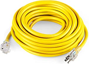 SIMBR 12/3 25 FT Extension Cord Outdoor, Heavy Duty Lighted Electrical Cord, UL Listed, SJTW, Power Your Household, Garden and Farm Electric Appliances