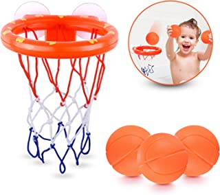 Fun Basketball Hoop & Balls Playset For Little Boys & Girls Bathtub Shooting Game For Kids & Toddlers Suctions Cups That S...