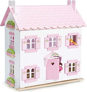 Le Toy Van - Iconic Sophie`s Large Wooden Doll House | Dream House Wooden Dolls House Play Set | Great As A Gift | Suitabl...