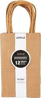 Brown Kraft Bag, Birthday Party Gift Favor Bag Set - 12 Count - Small