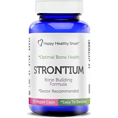 #1 Strontium Bone Healthy Supplement Recommended By Doctors Worldwide 90, Easy To Swallow Veggie Caps Made In The USA