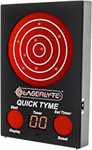 LASERLYTE trainer target Quick Tyme with 62 LEDs that light up SHOT TIMER built in to record dry fire laser shots LASER TRACER FIRE the LEDs light up in order of being shot buy a laser trainer