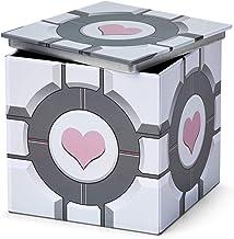 Portal Companion Cube Tin Storage Box - 4x4-Inch Novelty Stash Container W/ Pop Top Lid - Decorative Organizer Holder Cube...