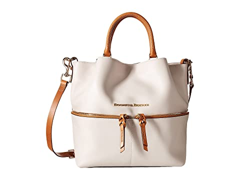 Dooney & Bourke City Dawson Bone/Natural Trim Perfect For Sale Sale Browse Outlet Cheapest Price Outlet Locations Cheap Online Best Online RTbxfCu68