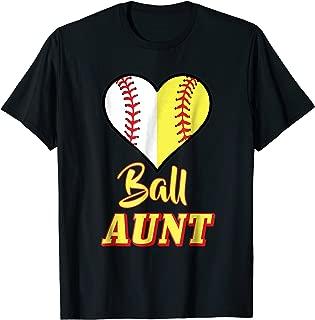 Funny Softball Aunt T-Shirt Ball Auntie Baseball Tshirt