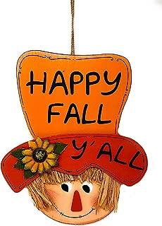 Mayrich Happy Fall Y'all Scarecrow Decoration Harvest Thanksgiving Door Wall Room Decor Indoor Outdoor 15