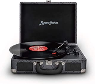 Byron Statics Vinyl Record Player, 3 Speed Turntable Bluetooth Record Player with 2 Built in Stereo Speakers, Replacement ...