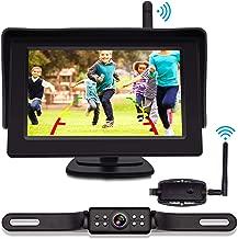 VISKOO, Digital Wireless Backup Camera and 4.3 Inch Monitor Kit for Car RV Trailer Truck License Plate HD Super Night Vision Rear View Camera