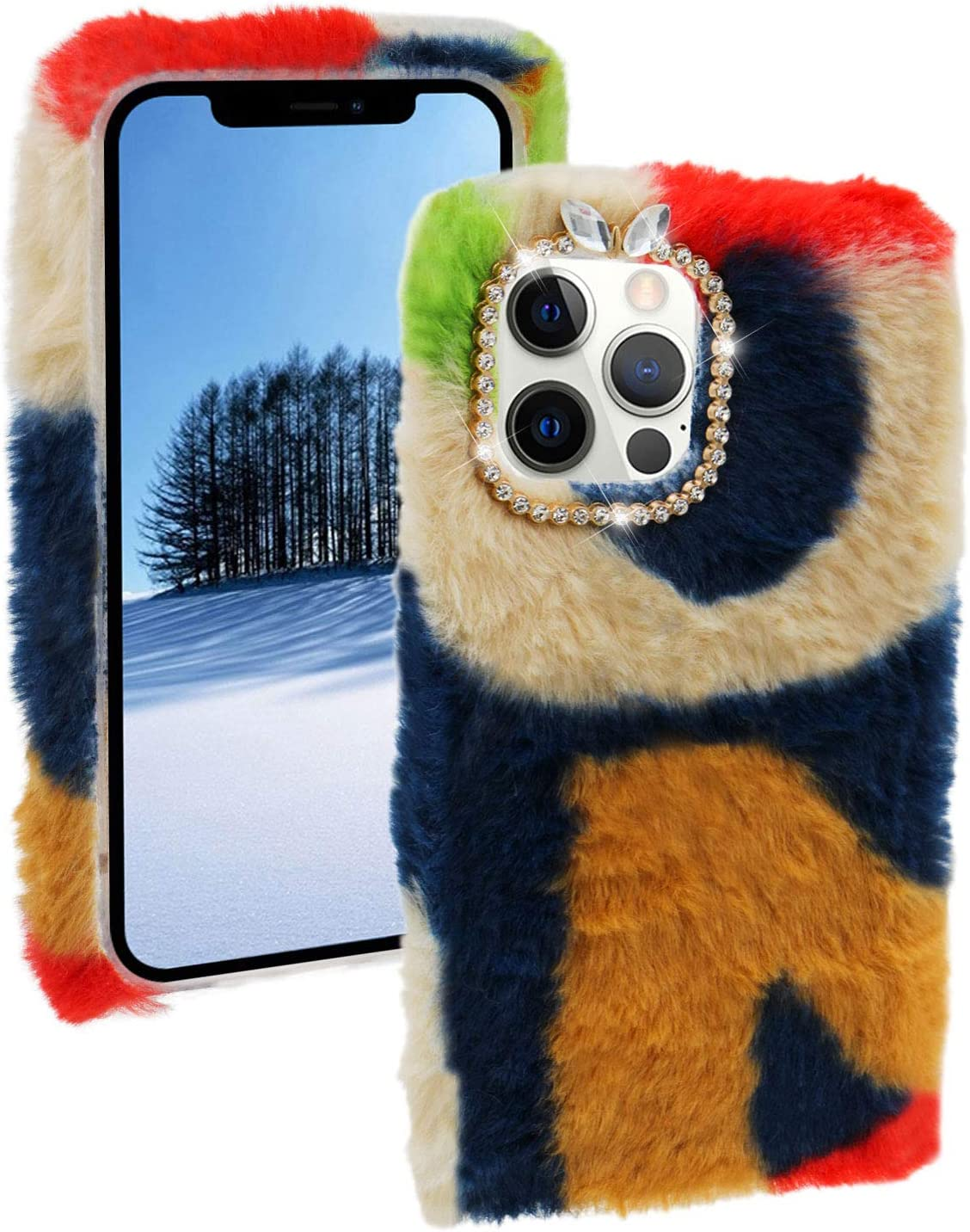 Colorful Fluffy Plush Columbus Mall Case for Galaxy Fashion Samsung Max 53% OFF A31 MOIKY