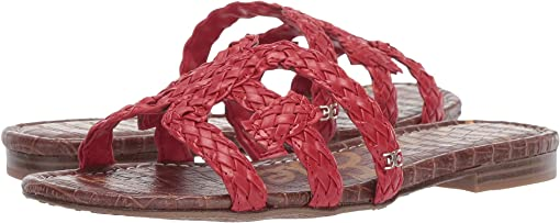 Candy Red Woven Nappa