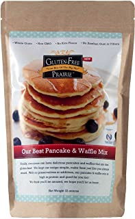 Gluten-Free Prairie Our Best Pancake & Waffle Mix, 22 Ounce - Certified Gluten-Free Purity Protocol, All Natural, Non-GMO, Whole Grain, Vegan, No Rice Flours, High in Protein and Fiber
