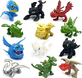 Dragon Toys Mini Figures - Action Figures 12 pcs - How to Train Your Dragon 12pcs/Set 5-6.5cm PVC Action Figures Toy Doll Night Fury Toothless Dragon – Cake Topper