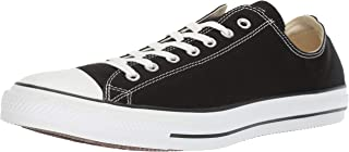 Converse Unisex Chuck Taylor All Star low top Basketball Shoe (Black / White, 7 D(M))