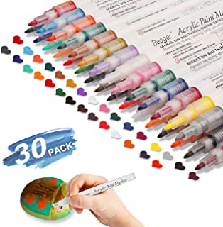 Acrylic Paint Pens for Rocks Painting, Ceramic, Glass, Wood, Fabric, Canvas, Mugs, DIY Craft Making Supplies, Scrapbooking Craft, Card Making. Acrylic Paint Marker Pens 0.7mm Special Colors Edition