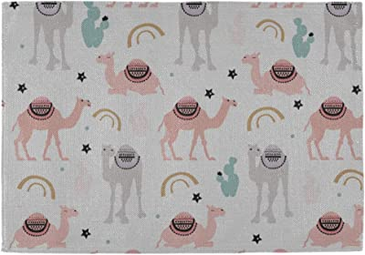 Placemats Set Of 4 For Dining Table Washable Camel Pattern White Placemat Non Slip Kitchen Table Mats Amazon Ca Home Kitchen
