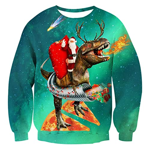 609bde80d AIDEAONE Unisex Ugly Christmas Jumper Sweatshirt Xmas Long Sleeve T-Shirt  S-XXL