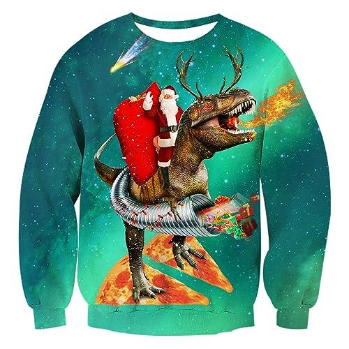 16402df80c29 AIDEAONE Unisex Ugly Christmas Jumper Sweatshirt Xmas Long Sleeve T-Shirt  S-XXL