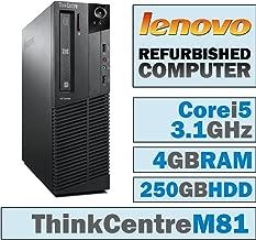 Lenovo ThinkCentre M81 SFF/Core i5-2400 Quad @ 3.1 GHz/4GB DDR3/250GB HDD/DVD-RW/Windows 10 Home 64 BIT