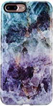 iPhone 8 Plus Marble Case/iPhone 7 Plus Case for Girls,GOLINK Glossy Marble Series Slim-Fit Ultra-Thin Anti-Scratch Shock Proof Dust Proof TPU Gel Case for iPhone 7/8 Plus - Purple Marble