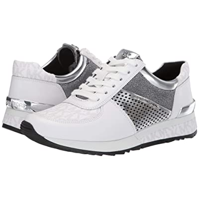 MICHAEL Michael Kors Allie Wrap Trainer (White/Silver) Women