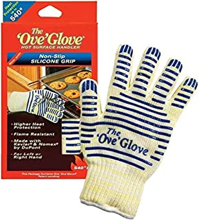 Ove� Glove, Heat Resistant, Hot Surface Handler Oven Mitt/Grilling Glove, Perfect For Kitchen/Grilling, 540 Degree Resistance, As Seen On TV Household Gift