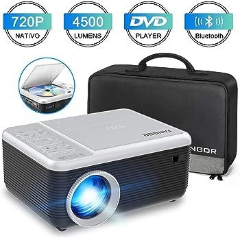 Proyector multimedia TENKER para cine en casa, mini proyector LCD ...